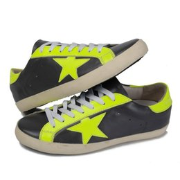 Wholesale Italy Brand Golden Goose Men Casual Shoes Genuine Leather Handmade Comfortable Bass Yellow Women GGDB Shoes Male Scarpe Donna