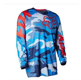 2016 newest summer Lee brand TLD Motocross Rider racing camouflage T-shirt Super surrender size S~XXXXXL Blue