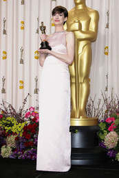 Wholesale Oscar Evening Dress Hollywood Famous Actress Anne Hathaway same red carpet dresses backless Party dress For special occasion Wear Z405