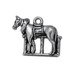 My shape Antique Silver Plated Vintage Knight Prize Horse Charm for Men Animal Horse Charms for Jewelry Making