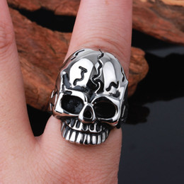 Hot Gothic Skull Skeleton Ring Fashion Jewelry 316L Stainless Steel Rings Punk Style Jewelry For Men