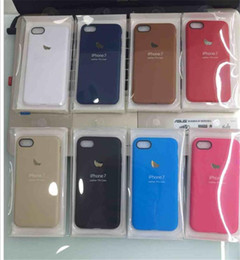 Wholesale Official design case For iphone ultra thin TPU jelly PU leather design color cases Cover skin with apple logo for iphone plus s se