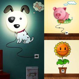 Colorful Cartoon Wall Sconce Night Light Wall Sticker Night Lamp Gift Child New Arrival Free Shipping