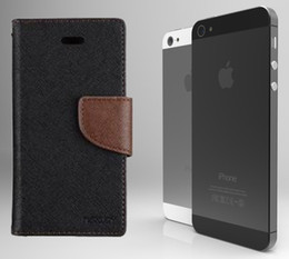 Wholesale Simple business mobile phone holster Pressure change Cross lines Hit color Hem Protective cover for iphone