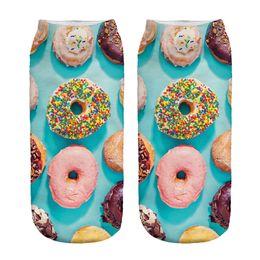 Wholesale hot sale D Digital Printed Blue base Women Socks Unisex Fashion Cute Short Sock Women Low Cut Dress Sock Hot