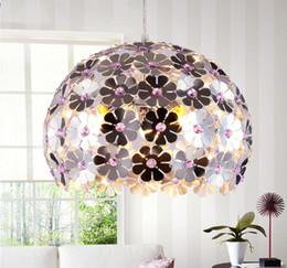 Modern Art hydrangea aluminum chandelier, E27 lamp holder. Cozy bedroom chandelier flowers 300mm, single-head chandelier openwork flowers.