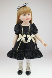 Wholesale Lovely Inch Full Body Vinyl American Girls Realistic Reborn Dolls Wearing Dark Dress Toddlers Birthday Xmas New Year Gift