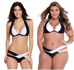 Wholesale 2016 Sexy Women Triangle Push Up Bikini Set Criss cross Twist Double Halter Straps Beach Swimsuits Swimwear Bandage Bathing Suits SW804