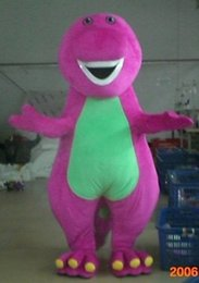 Wholesale Factory direct sale Hot New Profession Barney Dinosaur Mascot Costumes Halloween Cartoon Adult Size Fancy Dress