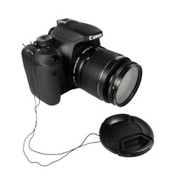 Wholesale MM mm mm mm mm mm mm Snap On Front Lens Cap Cover for Canon Nikon all DSLR lenses with rope