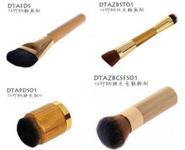 Wholesale hot sale styles TARTE Cosmetic Makeup Brushes Powder Foundation Make Up Brushes with bamboo handle DHL