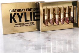 Wholesale Metal color lipgloss New Arrived Cosmetics by Kylie Jenner Limited Birthday Edition Gloss In POPPIN Different Colour lip golss free DHL