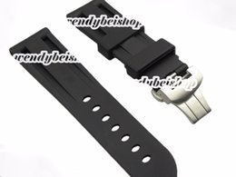 Wholesale 22mm mm buckle Support Hot Sell New Men Silicone Rubber Band OFFICINE with Silver Matt Brushed Clasp for Panwatch