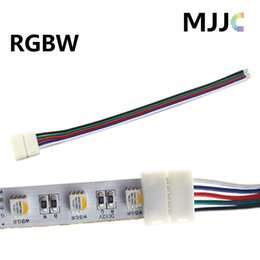Solderless 12mm RGBW RGBWW LED Strip Light Connectors 12V 24V 5PIN with 15cm 22AWG# Wire in one Side