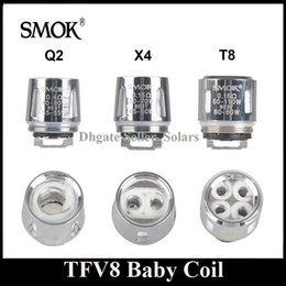 Wholesale Original SMOK TFV8 Baby Coil Head Replacment T8 X4 T6 Q2 Beast Coil Engine Core for H PRIV Mini w Kit