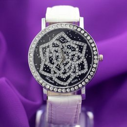 Free shipping!PVC leather band,silver plating case with crystal circle,flower UP dial,quartz movement,Gerryda fashion woman lady watch,686