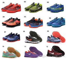 Promotion kd chaussures de vente mens 2016 Kd 8 Mens Basketball Chaussures chaussures KD8 Avec Tick Kevin Durant Chaussures de basket Athletic Sport Sneakers en ligne Hot Sale taille US 7-12