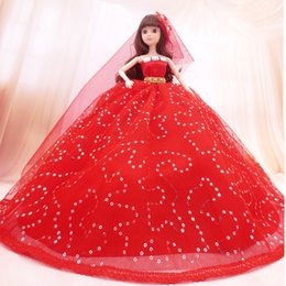 Wholesale Bobbi doll wedding clothes skirt dress wedding bride doll Princess Dress