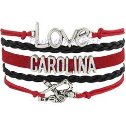 Custom-Infinity Love National Hockey League Carolina Hurricanes Ice Hockey Team Fans Bracelet Adjustable Bracelet Bangles-Drop Shipping