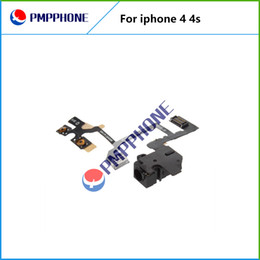 Wholesale Good Qulity For iPhone S Headphone Audio Jack Power Volume Switch Flex Cable Replacement Fast shipping
