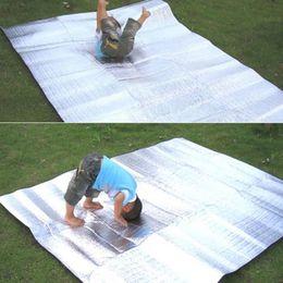 Wholesale Foldable Folding Sleeping Mattress Mat Pad Waterproof Aluminum Foil EVA Outdoor Camping Mat inflatable mattress for Hiking and Camping