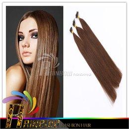 8A Grade Pre-Bonded U Tip Extensions de Cheveux Brésilienne droite cheveux ongles ongles 18