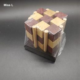Eight Pillar Kong Ming Lock Logic Game Wooden Block Traditional Toys Brain Teaser IQ Game Toy Teaching Prop