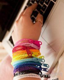 Wholesale New Zip bracelet wristband candy bracelet Popular Zipper bracelet