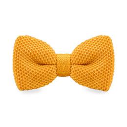 Men's Orange Bow Tie Tuxedo Adjustable Party Casual Stylish Fashion Bow Tie Gift Box Men's Fashion Accessories F-307