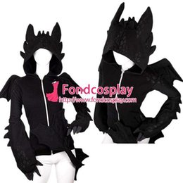 La réalisation de films en Ligne-Envoi gratuit Comment entraîner votre dragon Nightfury Toothless Dragon Hoodie Costume de cosplay de film sur mesure