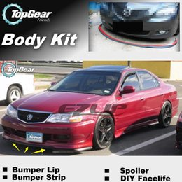 Wholesale For Acura CL Bumper Lips Front Skirt Deflector Spoiler For Car Tuning The Stig Recommend Body Kit Strip