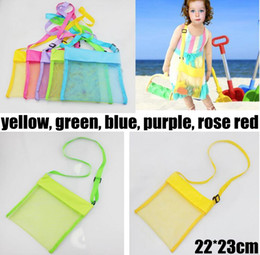Kids Beach Toys Receive Bag Mesh Sandboxes Away All Sand Child Sandpit Storage Shell Net Sand Away Beach Mesh Pouch 5color choose free
