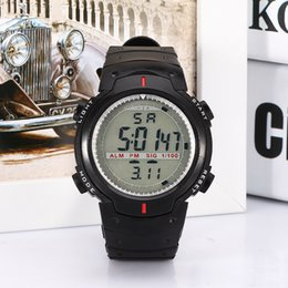 Wholesale New Arrival Best Mens Sports Water Resistant Black Band Watch LED Chronograph Wristwatch Military Digital Watch