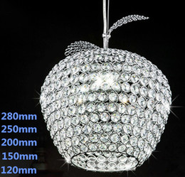 Wholesale k9 Crystal Chandelier Apple Lustres De Cristal Restaurant LED lights Modern Pendant Lamp
