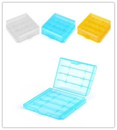 Wholesale Portable Plastic Battery Box Storage Case Cover Colorful Holder Safety Box Carrying Box For AA AAA Battery