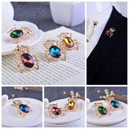 Original brand fashion alternative personality simulation series insect brooch broocch Korean three-dimensional crystal diamond Beetle
