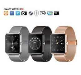 Wholesale Newest fashion Bluetooth Smart Watch Z50 with heart rate SIM card TF mp3 mp4 compatible with Android Phones DHL