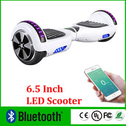 Wholesale Upgrade Phone APP LED Scooter Bluetooth Music Player Hoverboard Electric Skateboard Smart Scooter Two Wheel inch Mini Balancing Wheel