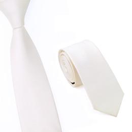 Men Slim Ties Skinny Tie Men's Necktie Solid Fashion Neckties Beige White Republic Of Korea Check Neckwear E-016