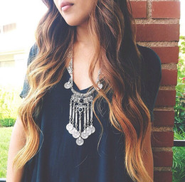 Antique Silver Link Gypsy Native American Tribal Boho Choker Bohemian Turkish Coin Necklace