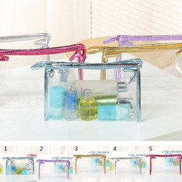 Clear Transparent Plastic PVC Travel Cosmetic Make Up Toiletry Bag Zipper cosmetic bag