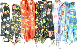Wholesale 100 Pcs Mixed Classic Character Super Mario Bros Lanyards Straps Mobile Phone,ID Card,Key