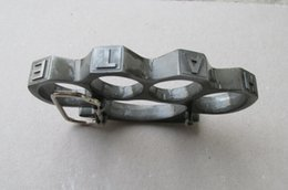 Wholesale QTY1 Entertain wild hope BRASS KNUCKLE DUSTERS KNUCKLE DUSTERS Can be used as a belt buckle