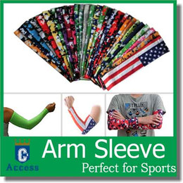 Wholesale Cooling UV Protection Golf Cycling Driving Fishing Basketball Camo Arm Sleeves color