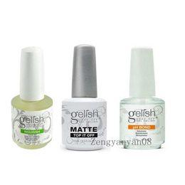Wholesale Top quality Harmony Gelish Polish Soak off MATTE Top it off and pH bond Nourish LED UV Gel nail polish Nail art lacquer gelishpolish