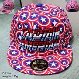 Wholesale Hottest Sale Snapbacks Hip Hop Caps Captain America Caps Casual Cartoon Peripheral Adjustable Baseball Hats Sunshine Cap Fast Shipping