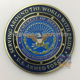 Wholesale NEW Department of Defense Proud Military Family Challenge Coin US Army coins US American Force challenge COINS