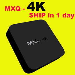 Wholesale MXQ K Wifi TV BOX Rockchip RK3229 Quad Core IPTV Kodi15 Android TVbox Kitkat WIFI Airplay Miracast DHL Free OTH107
