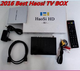Wholesale 2016 Best Newest Cheapest Haosi Arabic IPTV IPTV Set Top Box HDTV and IPTV Arab Free Europe Americas Africa Central Asia East Asia Arab