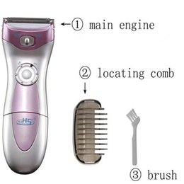 Wholesale Women Waterproof Electric Trimmer Epilator for Bikini Hair Removal Lady Shaver Razor Epilation Machine Battery Powered